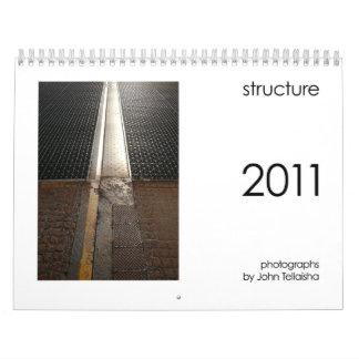 estructura 2011 calendarios de pared