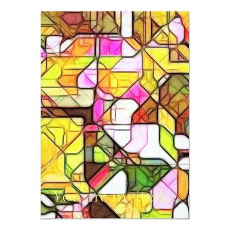 """Estructura abstracta 1 invitación 5"""" x 7"""""""
