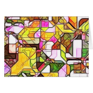 Estructura abstracta 1 tarjeta de felicitación