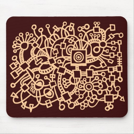 Estructura abstracta - arena en DK Brown Tapete De Ratones