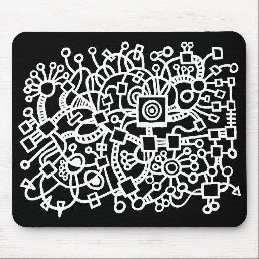 Estructura abstracta - blanco en negro alfombrilla de raton