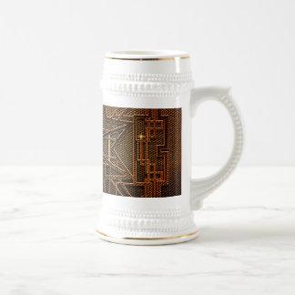 Estructura abstracta del metal jarra de cerveza