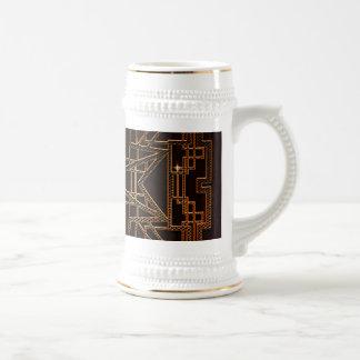Estructura abstracta moderna jarra de cerveza