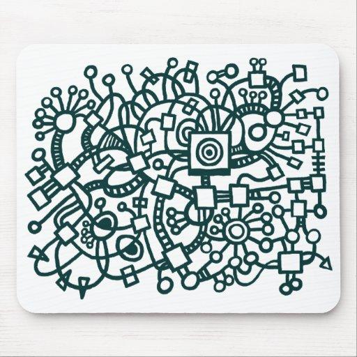 Estructura abstracta - verde oscuro en blanco alfombrillas de ratón
