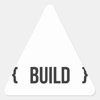 Estructura - acorchetada - blanco y negro pegatina triangular