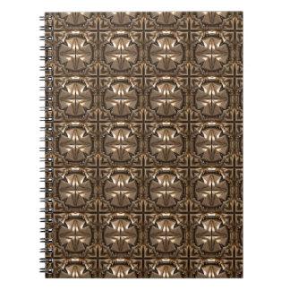 Estructura adornada del metal spiral notebooks