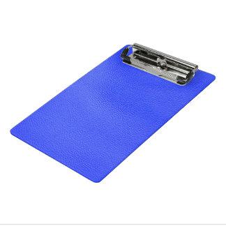 estructura de cuero, azul minicarpeta de pinza