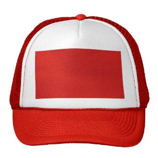 estructura de cuero, roja gorro