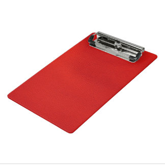 estructura de cuero, roja minicarpeta de pinza