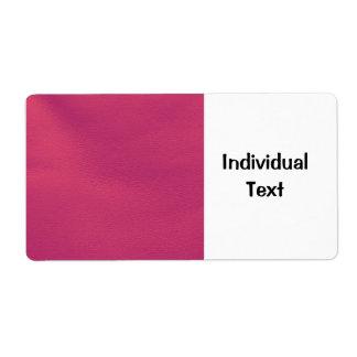 estructura de cuero, rosa fuerte etiquetas de envío