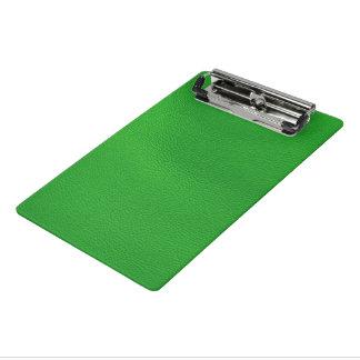 estructura de cuero, verde minicarpeta de pinza