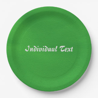 estructura de cuero, verde plato de papel 22,86 cm