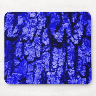 Estructura de la corteza de árbol, azul alfombrilla de ratón