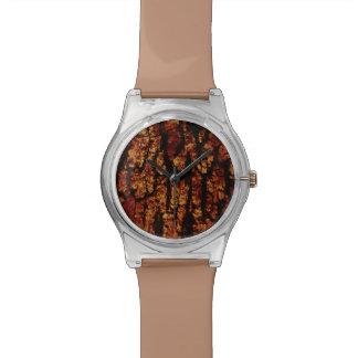 estructura de la corteza de árbol, marrón relojes