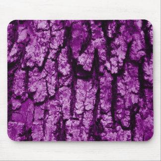 Estructura de la corteza de árbol, púrpura alfombrilla de ratón