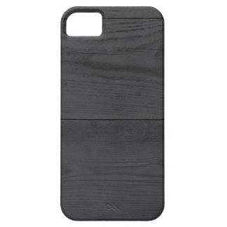 Estructura de madera de antracita iPhone 5 funda