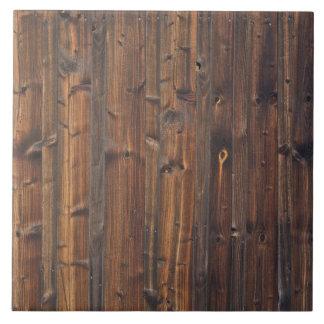 Estructura de madera de la pared de Brown Azulejo Cuadrado Grande