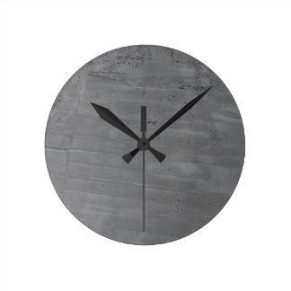 Estructura del cemento reloj redondo mediano