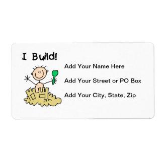 Estructura del muchacho I Etiquetas De Envío