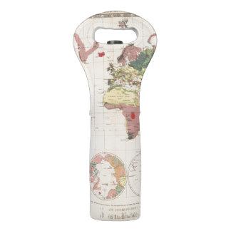 Estructura geológica del globo bolsas para botella de vino
