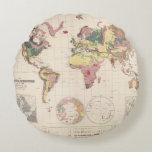 Estructura geológica del globo cojín redondo