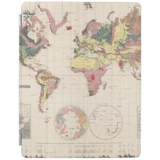 Estructura geológica del globo cubierta de iPad