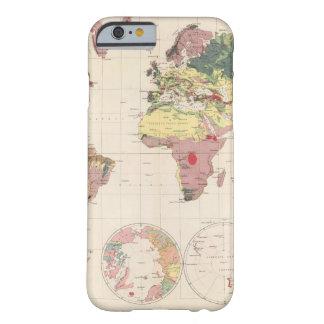 Estructura geológica del globo funda de iPhone 6 barely there