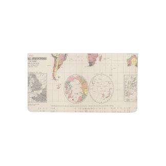 Estructura geológica del globo funda para chequera