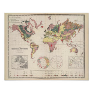 Estructura geológica del globo impresiones