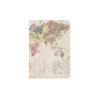 Estructura geológica del globo porta pasaporte