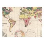 Estructura geológica del globo postal