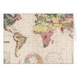 Estructura geológica del globo tarjeta