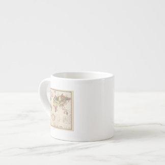Estructura geológica del globo taza espresso