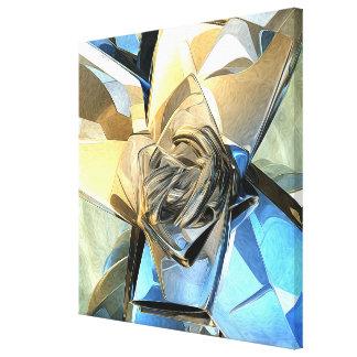 Estructura macra abstracta lona estirada galerías