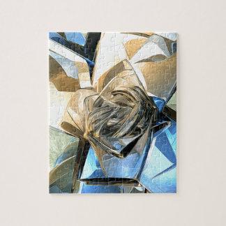 Estructura macra abstracta rompecabeza con fotos