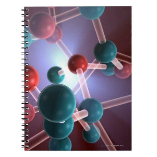 Estructura molecular del cafeína libreta