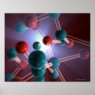 Estructura molecular del cafeína poster