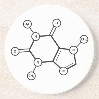estructura molecular del cafeína posavasos diseño