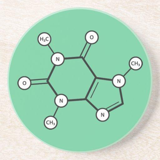 estructura molecular del cafeína posavasos manualidades