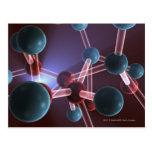 Estructura molecular del cafeína tarjetas postales