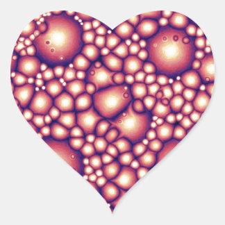 Estructura molecular extranjera pegatina en forma de corazón