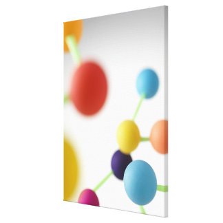 Estructura molecular impresión en lienzo