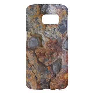 Estructura oxidada de la roca de la geología sucia fundas samsung galaxy s7