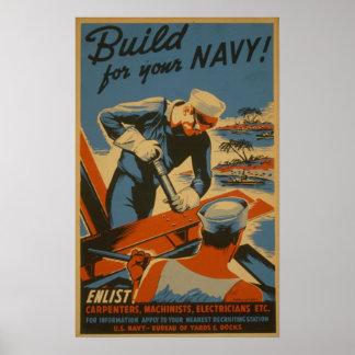 ¡Estructura para su marina de guerra! : ¡Aliste! Póster