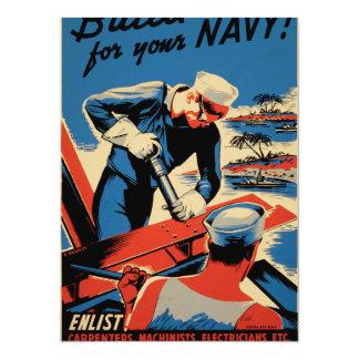 """¡Estructura para su marina de guerra! Invitación 5.5"""" X 7.5"""""""