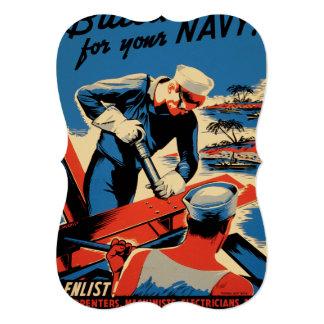 """¡Estructura para su marina de guerra! Invitación 5"""" X 7"""""""