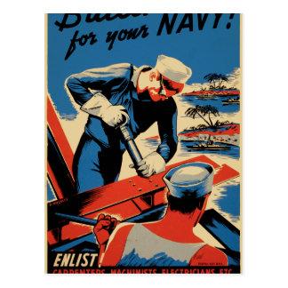 ¡Estructura para su marina de guerra! Postales