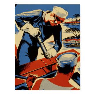 Estructura para su marina de guerra tarjeta postal