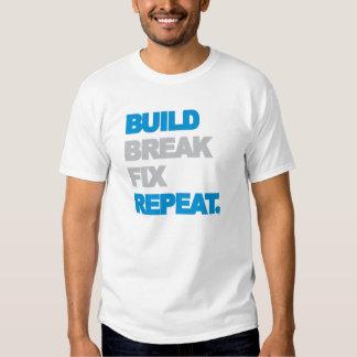 Estructura, rotura, arreglo, repetición camisas