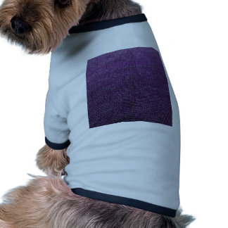 estructura tejida, púrpura camiseta con mangas para perro